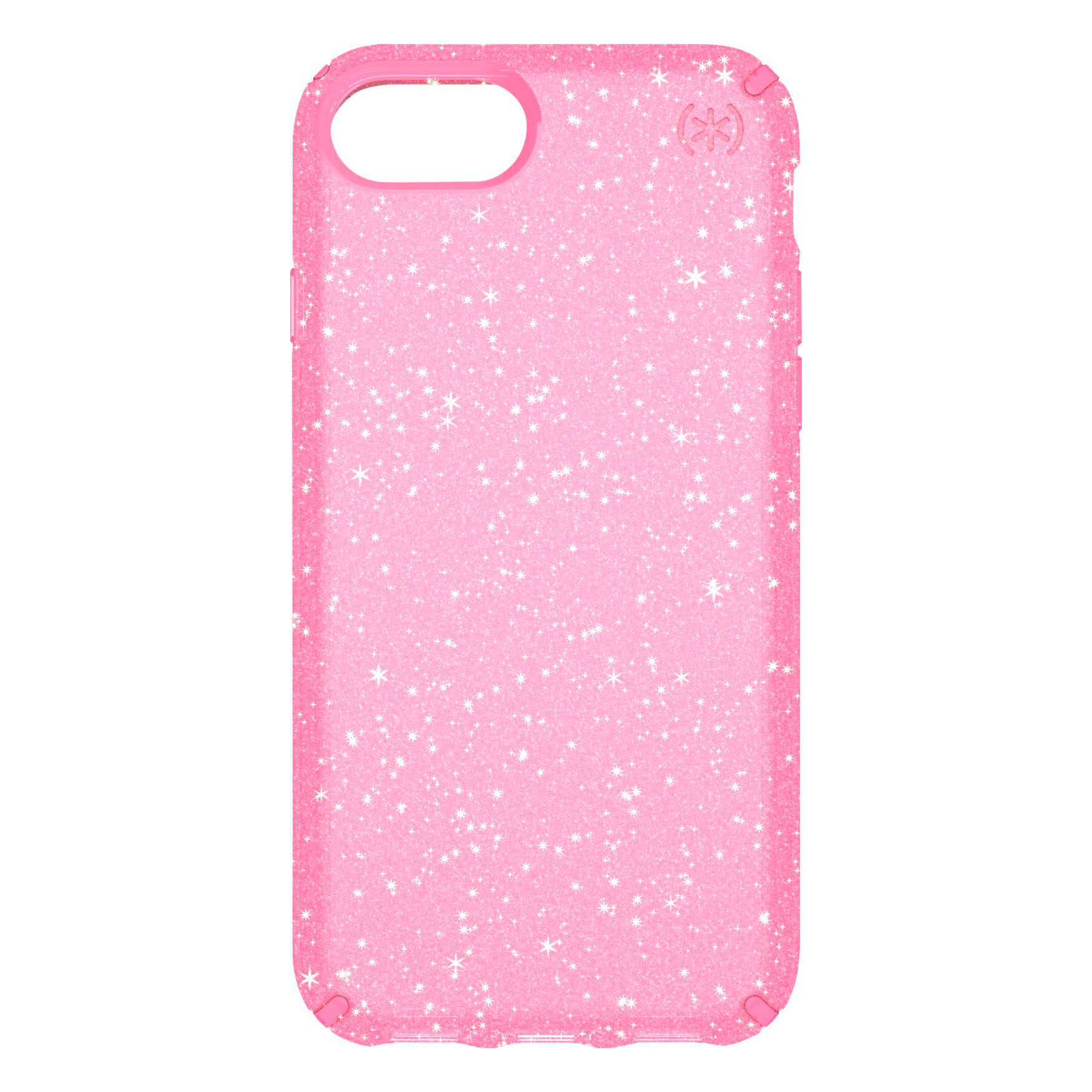 Speck Presidio Clear Glitter Case for iPhone 8/7/6 - Bella Pink/Gold Glitter