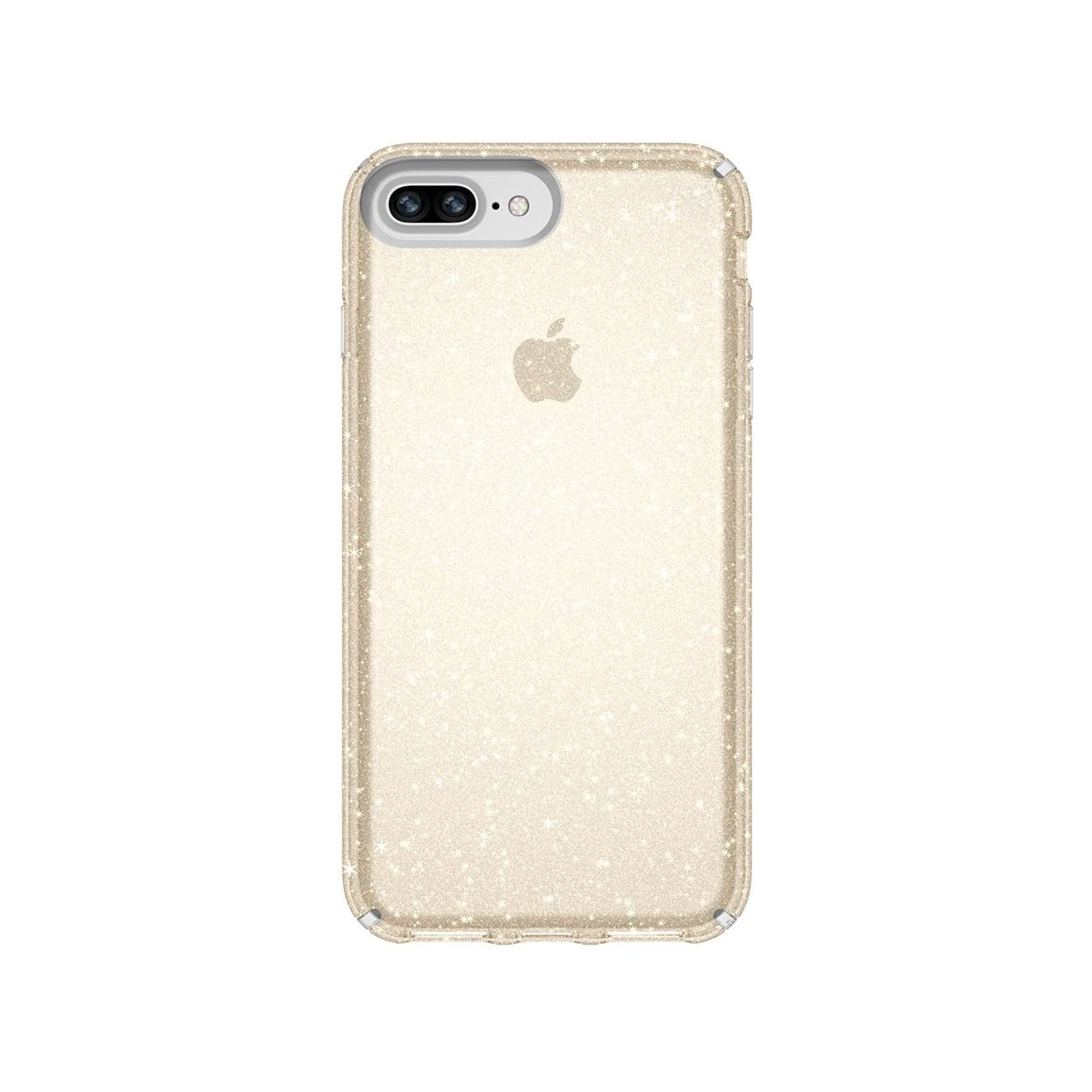 Speck Presidio Clear + Glitter Case for iPhone 8 Plus, 7 Plus - Clear With Gold Glitter