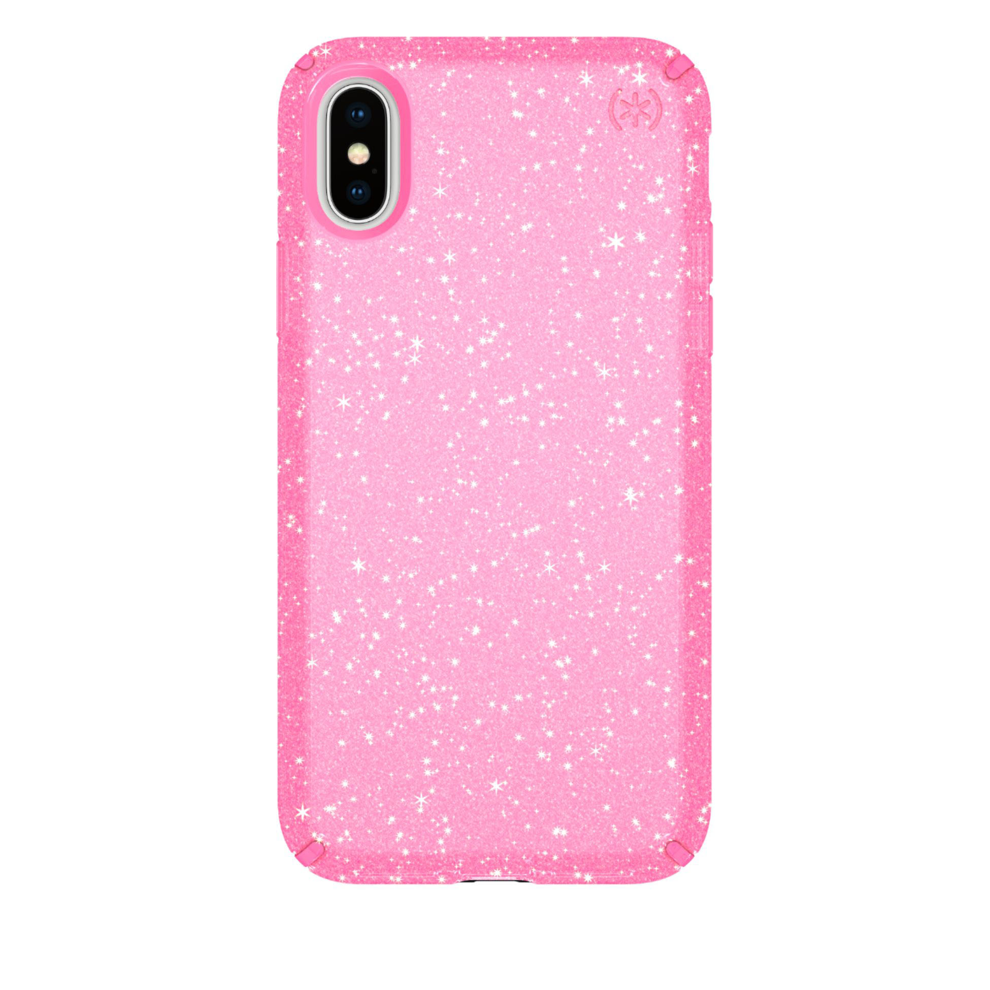 Speck Presidio Glitter Case for Apple iPhone X/XS - Clear/glitter/bella pink
