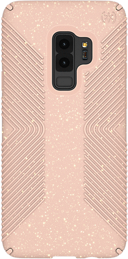 Speck Presidio Grip Plus Glitter Case for Samsung Galaxy S9 Plus - Dahlia Peach