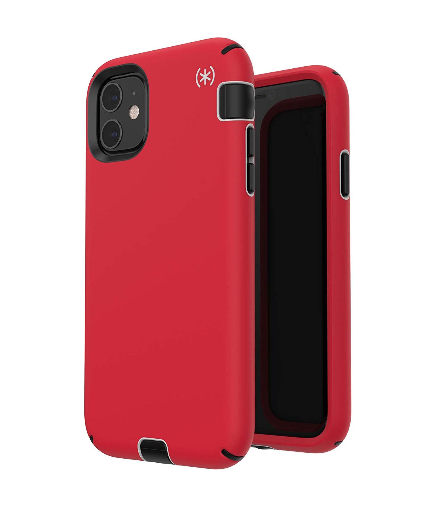 Speck Presidio Sport Case for iPhone 11 - Heartrate Red/Sidewalk Grey/Black