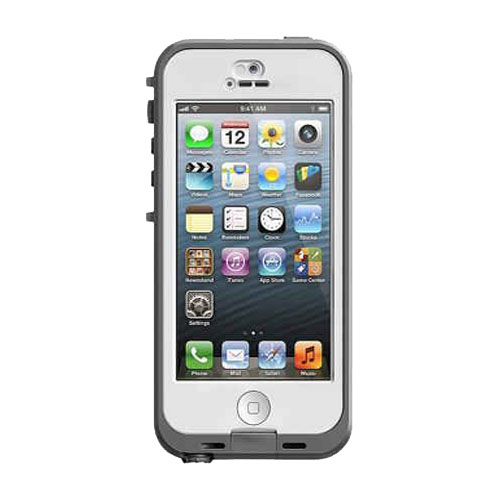 new concept 2d266 99b42 Lifeproof Nuud Waterproof Case for Apple iPhone 5/5S (White/Clear)