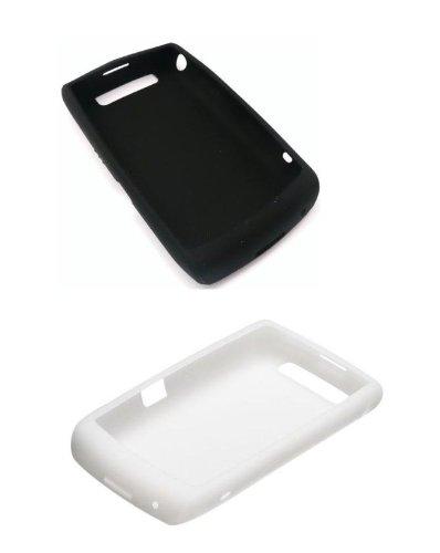 2 Pack - OEM BlackBerry 9520 9550 Storm2 Silicon Skin Case - White & Black