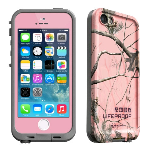 b46d4317e46 LifeProof Fre Realtree Waterproof Case for Apple iPhone 5s/5 - AP Pink/Gray