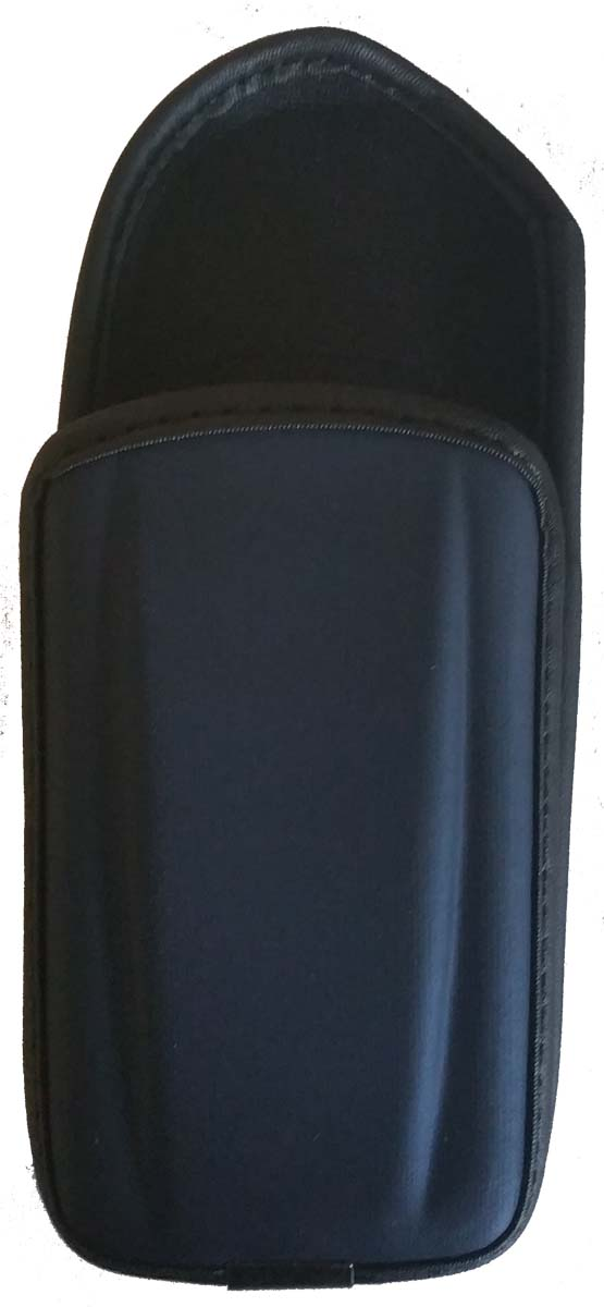 Fixed Clip Hydrofoam Cell Phone Pouch for Large Phones - Universal - Metallic Blue