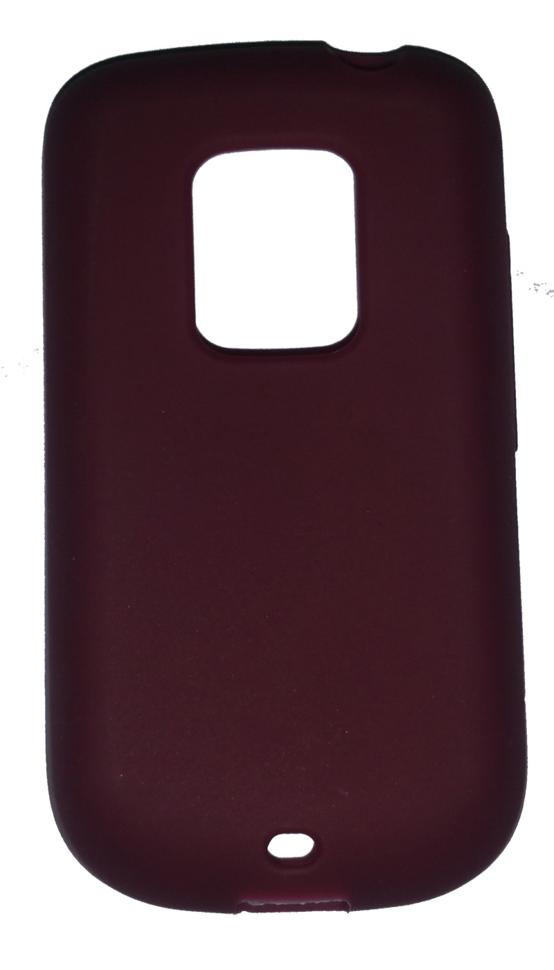 EVERCELL Silicon Skin Case for HTC Hero 6200 - Dark Red
