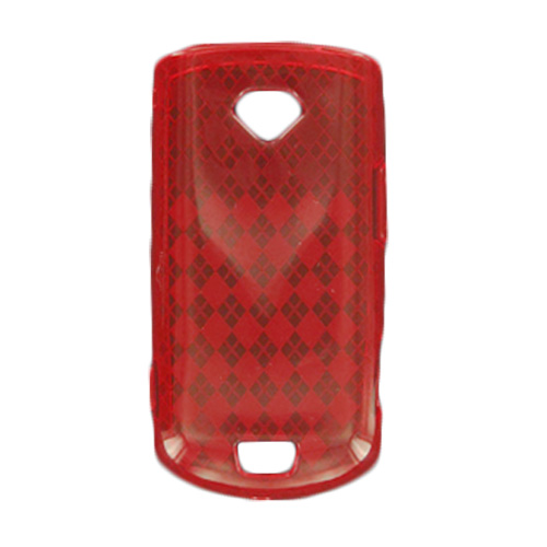 OffWire Diamond Silicone Gel Case for Samsung Gem SCH-i100 - Red