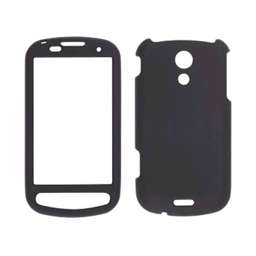 Sprint Two piece Soft Touch Snap-On Case for Samsung Epic 4G SPH-D700 - Black