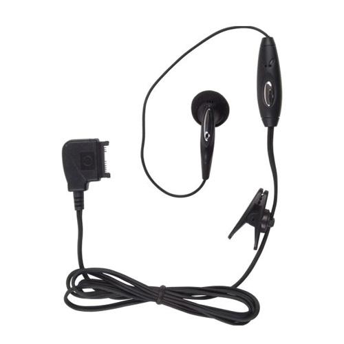 Wireless Solution - Pop Port Earbud Headset for Nokia 6682, 6101, 6102, 9300, 6282, 6126 - Black
