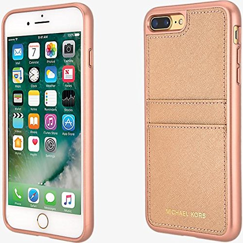 wholesale dealer 2ad3c c9900 Michael Kors Saffiano Leather Pocket Case for iPhone 8 Plus/7 Plus - Rose  Gold