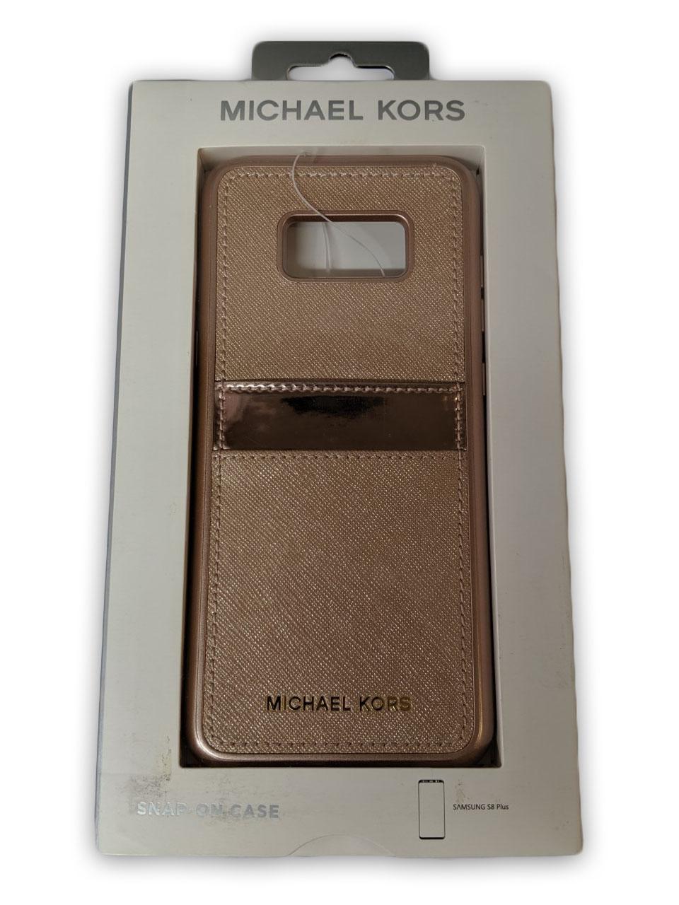 Original Michael Kors Saffiano Leather Case for Galaxy S8 Plus - Rose Gold