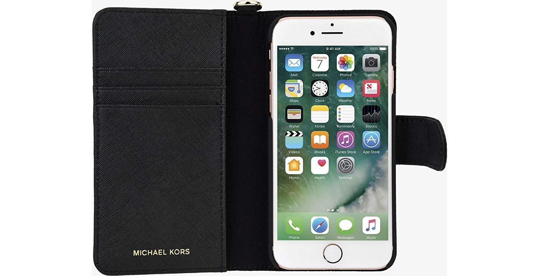 2d616af9c6063 Original Michael Kors Saffiano Leather Folio Case iPhone 8