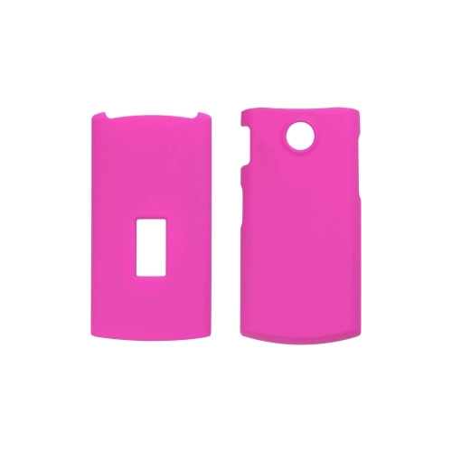 Soft Touch Snap-On Case for LG GD570 dLite - Hot Pink