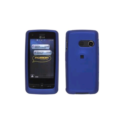 Two piece Soft Touch Snap-On Case for LG Rumor Touch LN510 UN510. Dark Blue
