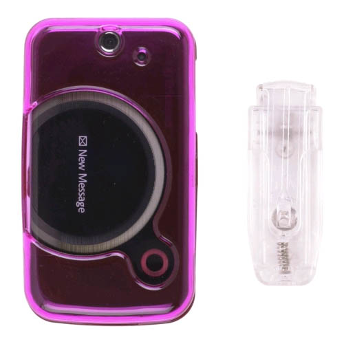 Wireless Solution Snap-On Case  for Sony Ericsson T717 (Pink)