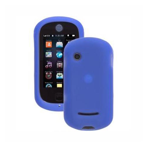 Wireless Solutions - Silicon Gel Case for Motorola QA4 Halo Evoke Cell Phones - Blue