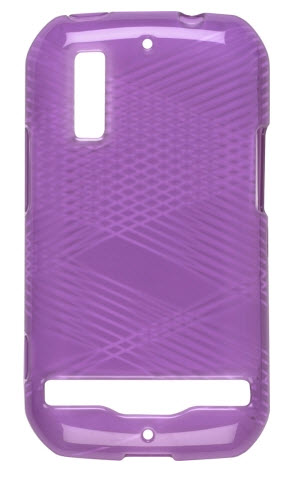 Wireless Solutions Criss Cross Dura-Gel Case for Motorola Photon 4G MB855 - Eggplant