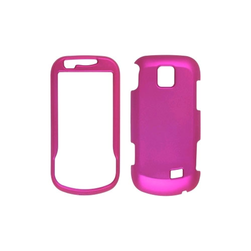 Soft Touch Snap-On Case for Samsung Intercept SPH-M910 - Hot Pink