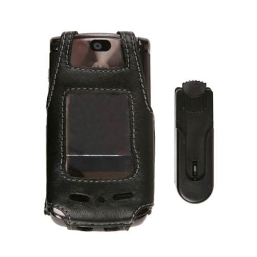 Swivel Clip Leather Case for Motorola RAZR2 V9 V9m