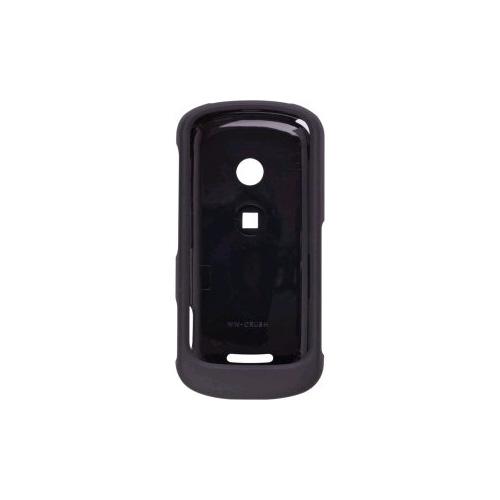 Motorola W835 Crush Rubberized Case - Black