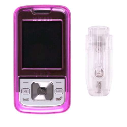 Snap-On Case with Ratcheting Belt Clip for Samsung SPH-M330, Dark Pink