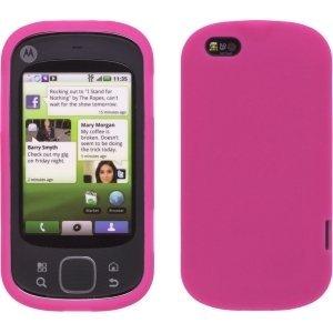 Silicone Gel Skin Case for Motorola Cliq XT - Watermelon Pink