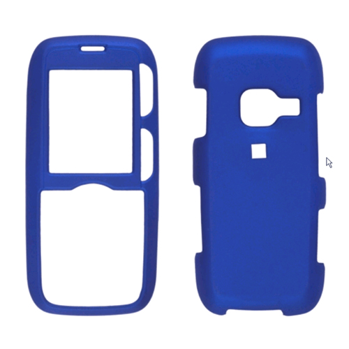Two piece Soft Touch Snap-On Case for LG AX260, LX260 Rumor, Scoop UX260 - Blue