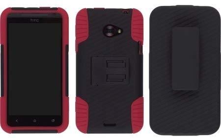 Ventev Edge Holster Case Combo for HTC EVO 4G LTE - Black/Red