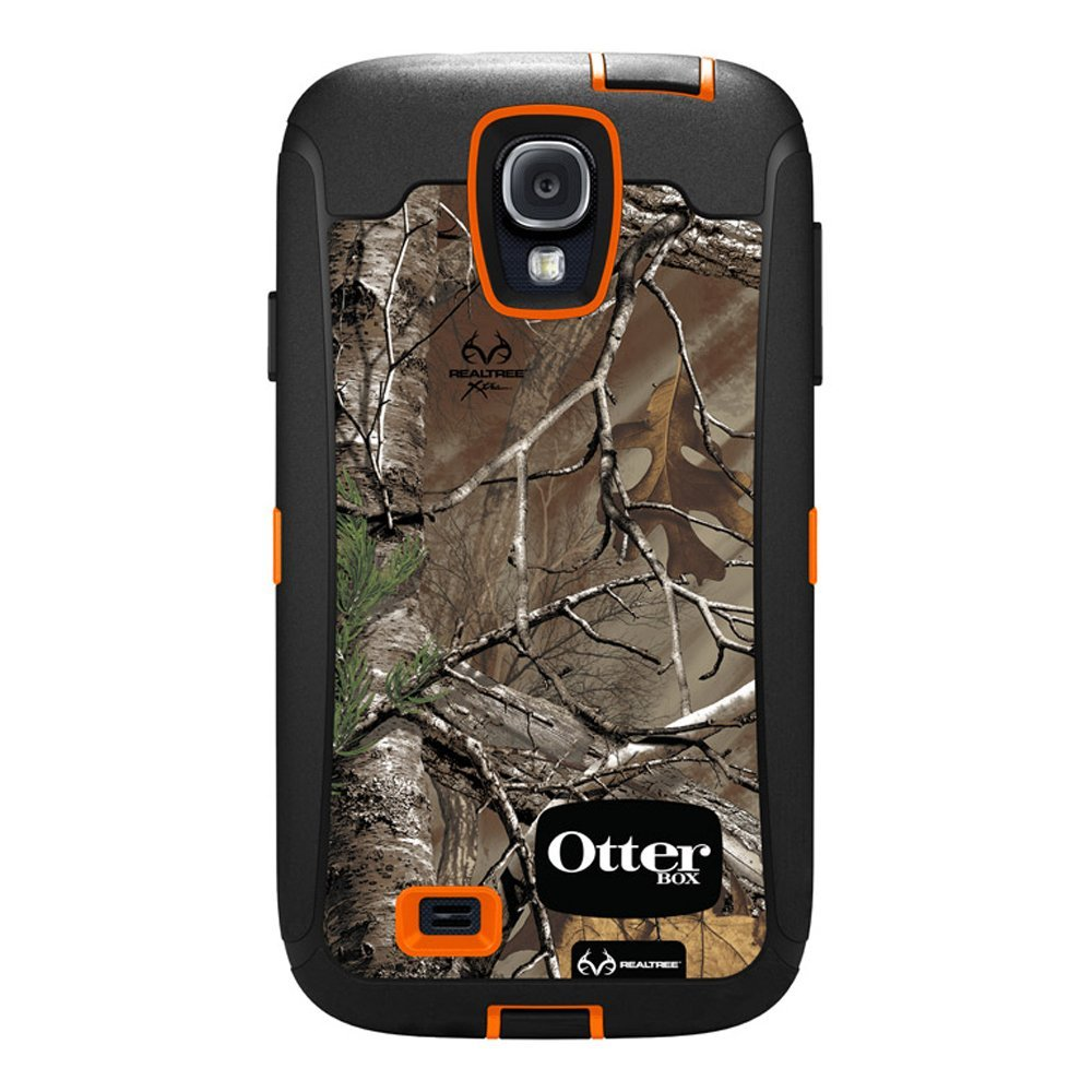 wholesale dealer e4955 7fc60 OtterBox Defender Case and Holster for Samsung Galaxy S4 - Realtree  Camo,Xtra Orange