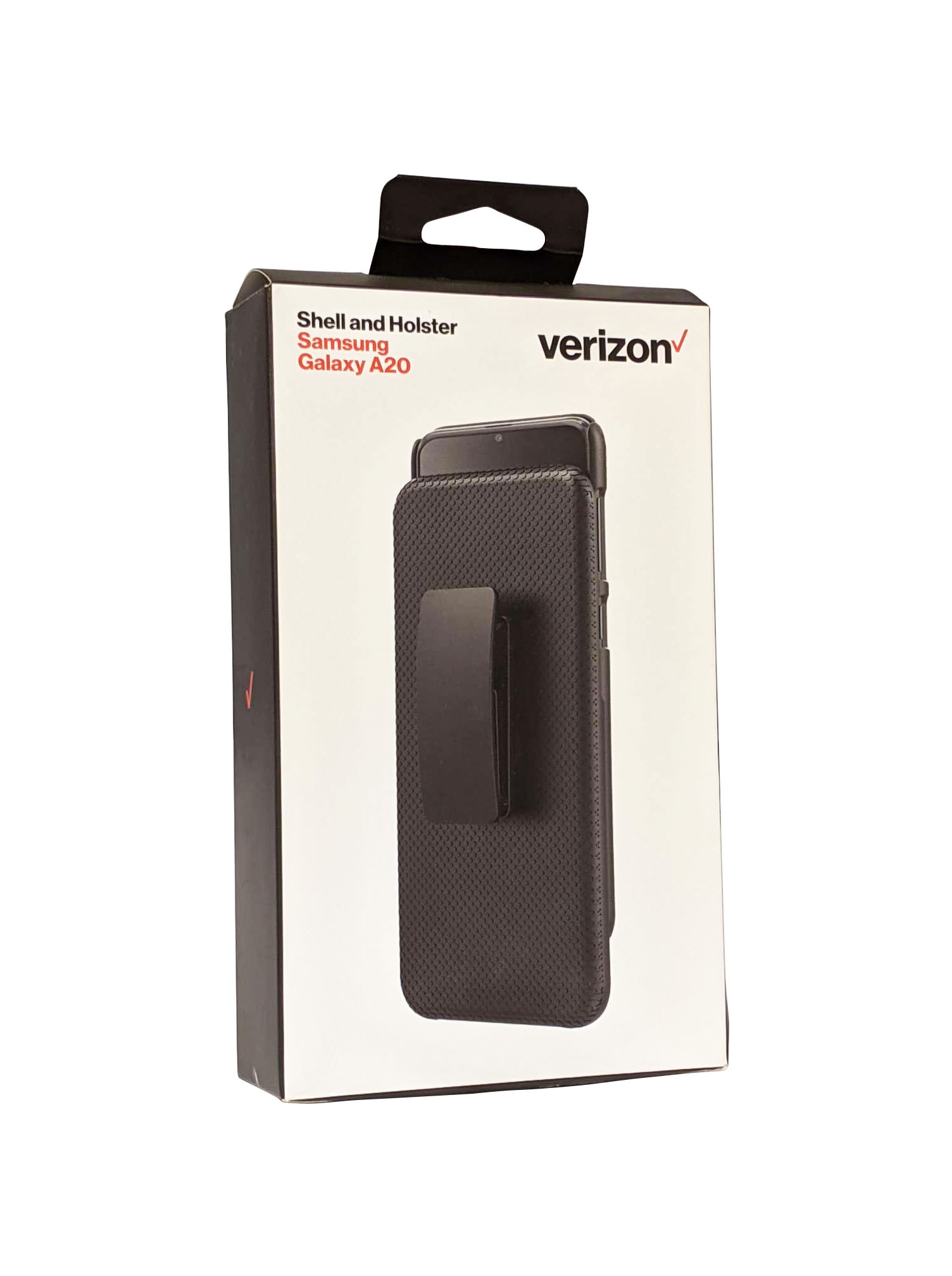 Verizon Shell Holster Combo Case for Galaxy A20 - Black
