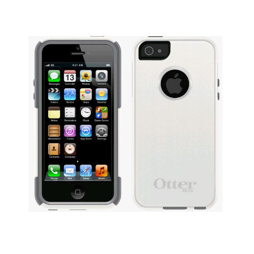 reputable site 39e45 92509 OtterBox Commuter Case for Apple iPhone 5/5s/SE - Glacier (White / Gunmetal  Grey)