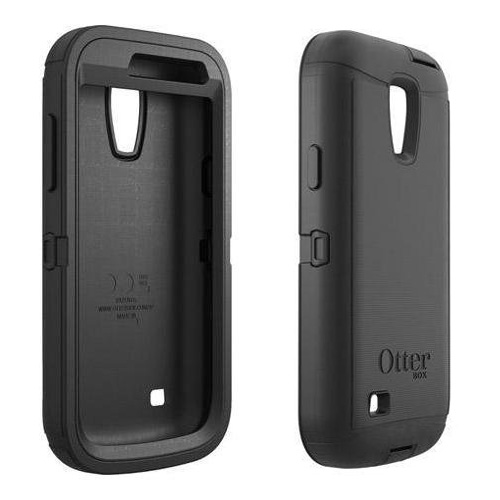 new product 3fc01 10bee Otterbox Defender Case for Samsung Galaxy S4 Mini - Black/Black