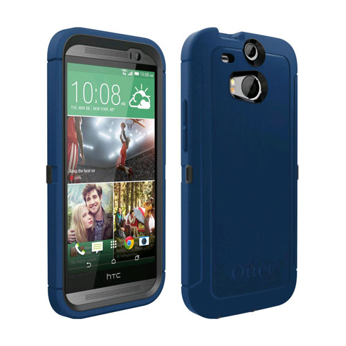 cheap for discount 958f2 0ce47 Otterbox Defender Case for HTC One M8 - Blueprint Gray/Deep Water