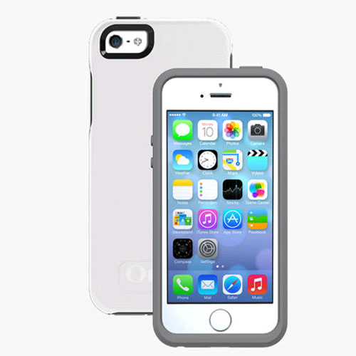online store 932b9 3118d Otterbox Symmetry Case for Apple iPhone 5/5S/SE - Glacier (WHITE/GUNMETAL  GREY)