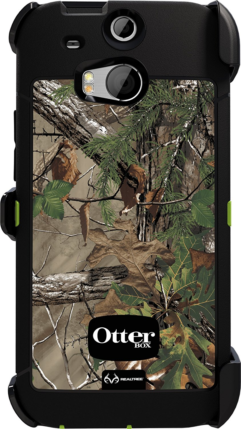 size 40 aa8aa 68da6 OtterBox Defender Case for HTC One M8 - Realtree Camo Xtra Green