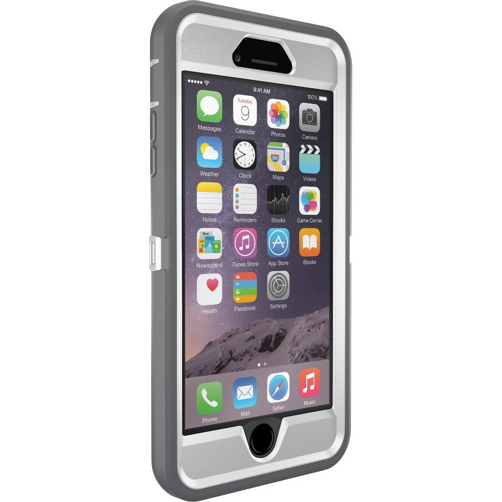 OtterBox Defender Case for Apple iPhone 6 Plus - Glacier (White Gray) fb7630a3ed0f