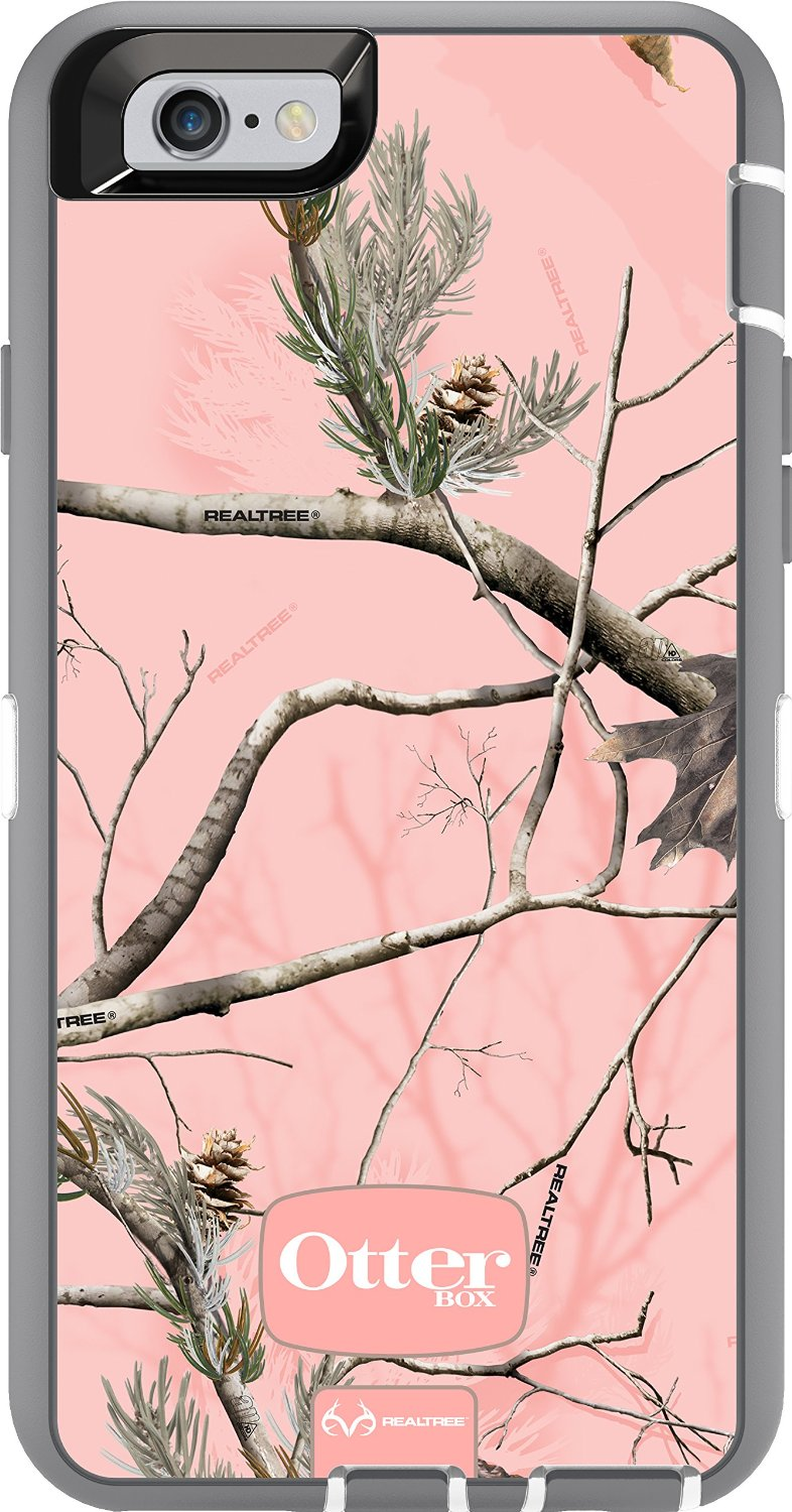 OtterBox Defender Case for Apple iPhone 6/6s - Realtree AP Pink/Camo  (White/Gunmetal Grey Ap Pink)