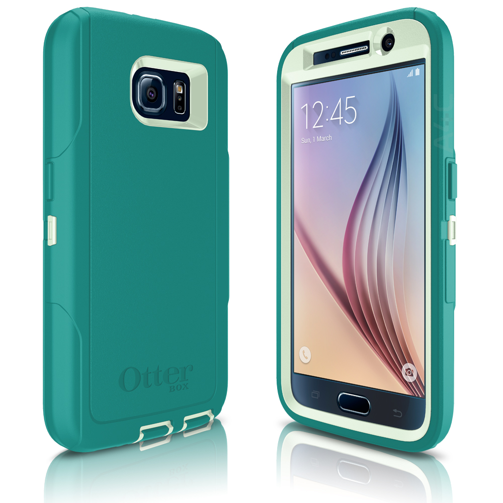 Otterbox Defender Case For Samsung Galaxy S6 Cool Melon Sage Lifeproof Fre 77 51242 Black Green Light Teal Blue