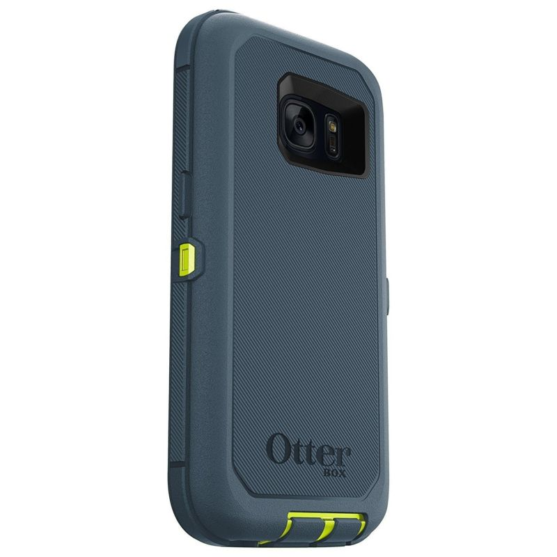online store aef3d adbf7 OtterBox Defender Case for Samsung Galaxy S7 - Meridian (CITRON  GREEN/TEMPEST BLUE)