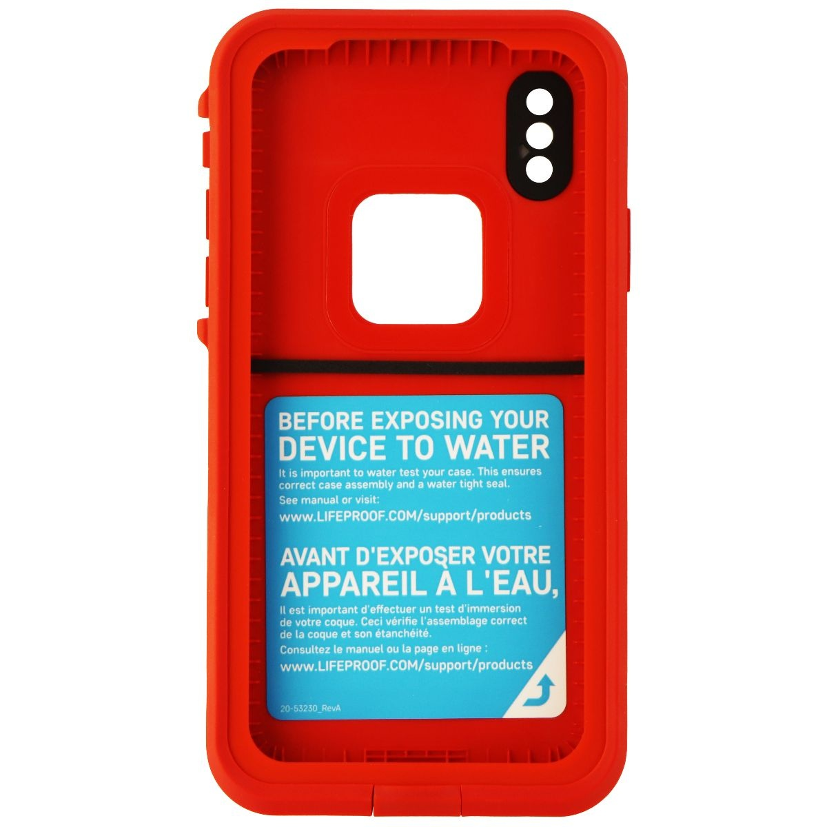 hot sale online a5743 f3ecf Details about Lifeproof FRE Waterproof Case for iPhone X - Fire Run (Cherry  Tomato/Sleet/Molte