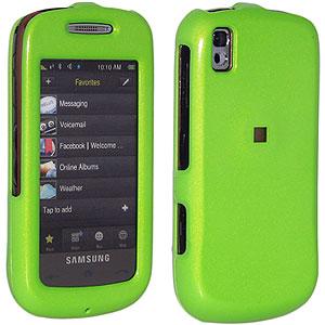 Amzer Snap-On Case for Samsung Instinct s30 SPH-M810 - Neon Green