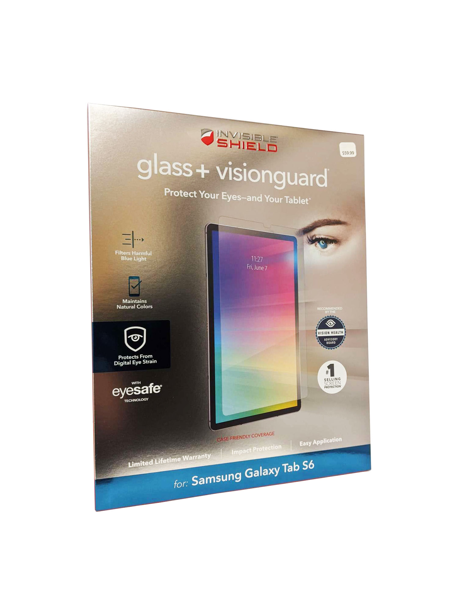 ZAGG for Galaxy Tab S6 InvisibleShield Tempered Glass+ with VisionGuard - Clear