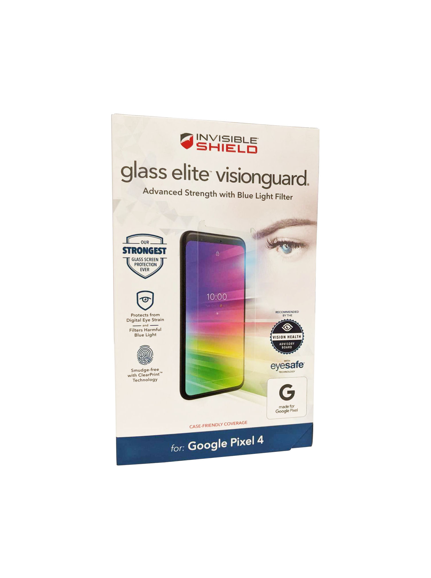 ZAGG InvisibleShield Screen Protector for Pixel 4 Glass Elite VisionGuard - Clear