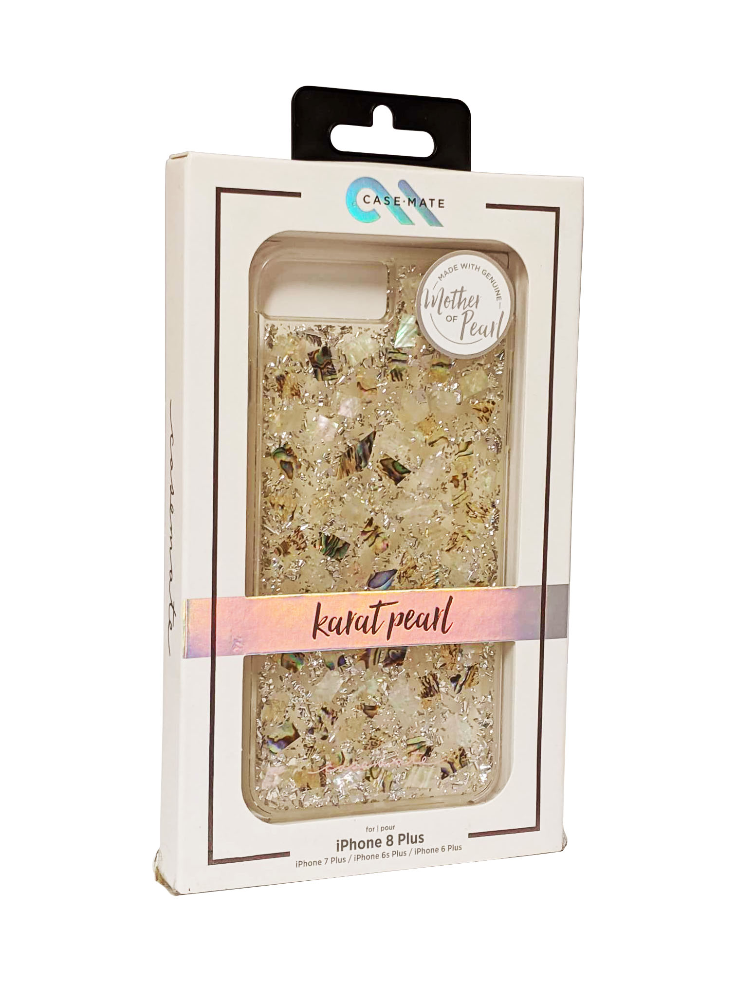 Case-Mate Karat Pearl Case for Apple iPhone 6/6S/7/8 Plus - Mother of Pearl/Clear