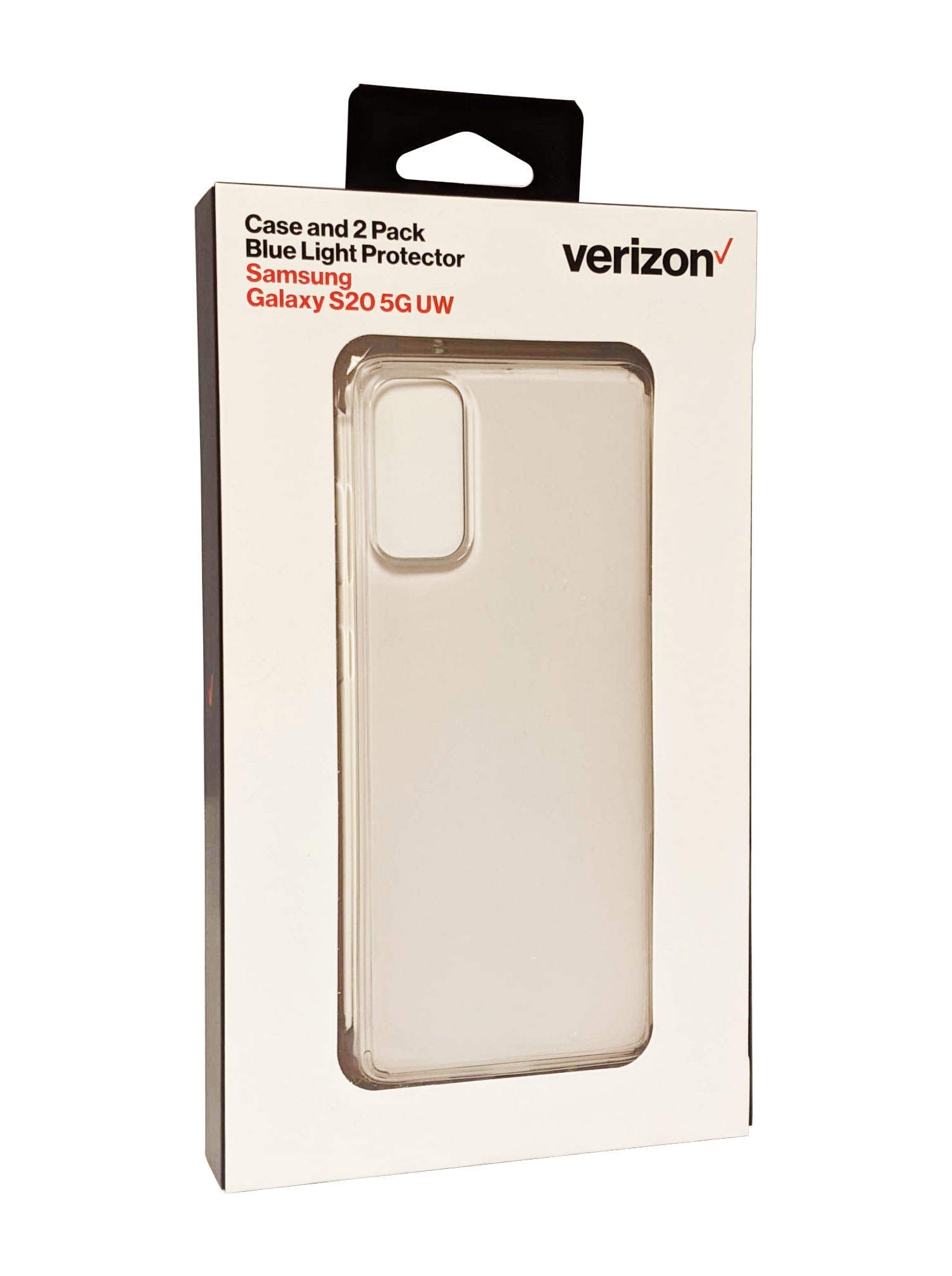 Verizon Bundle for Galaxy S20 5G UW Clarity Case & Blue Light Screen Protector