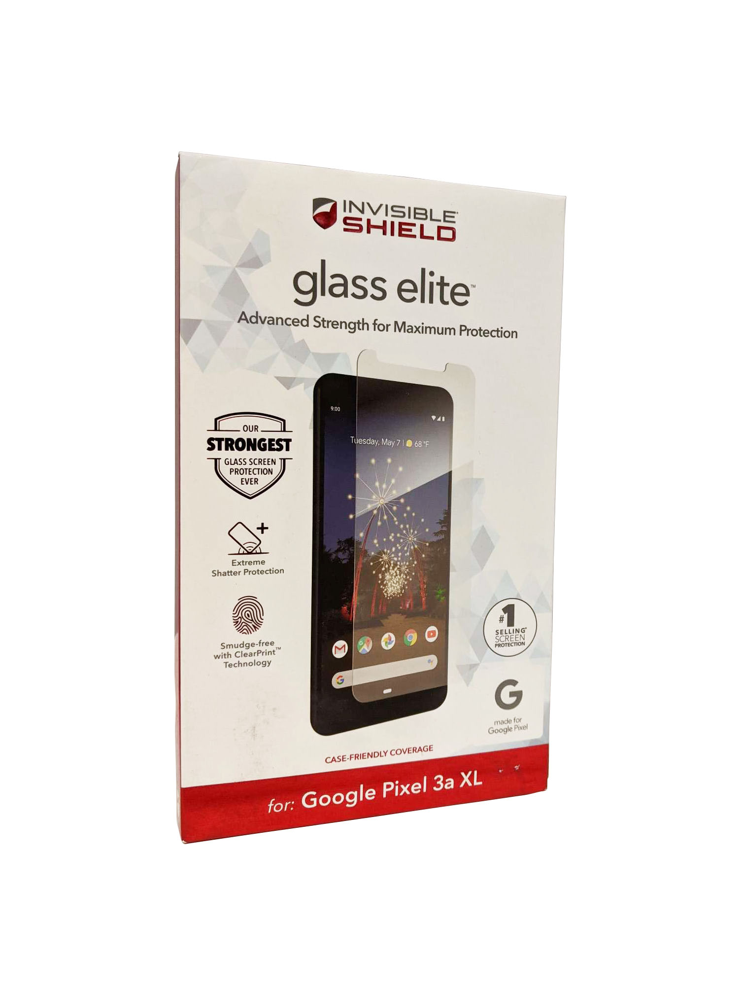 ZAGG for Pixel 3a XL InvisibleShield Glass Elite Screen Protector