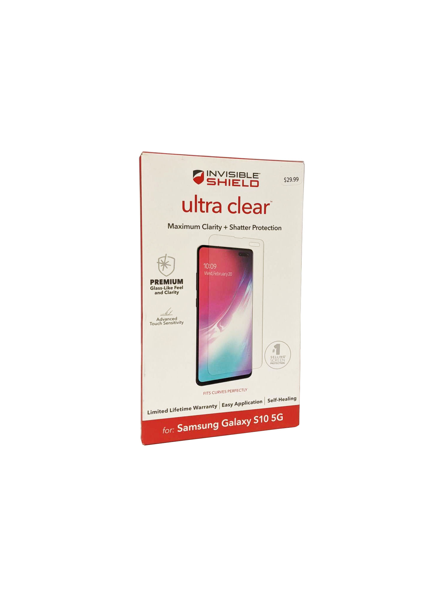 ZAGG InvisibleShield Ultra Clear Screen Protector for Galaxy S10 5G - Clear