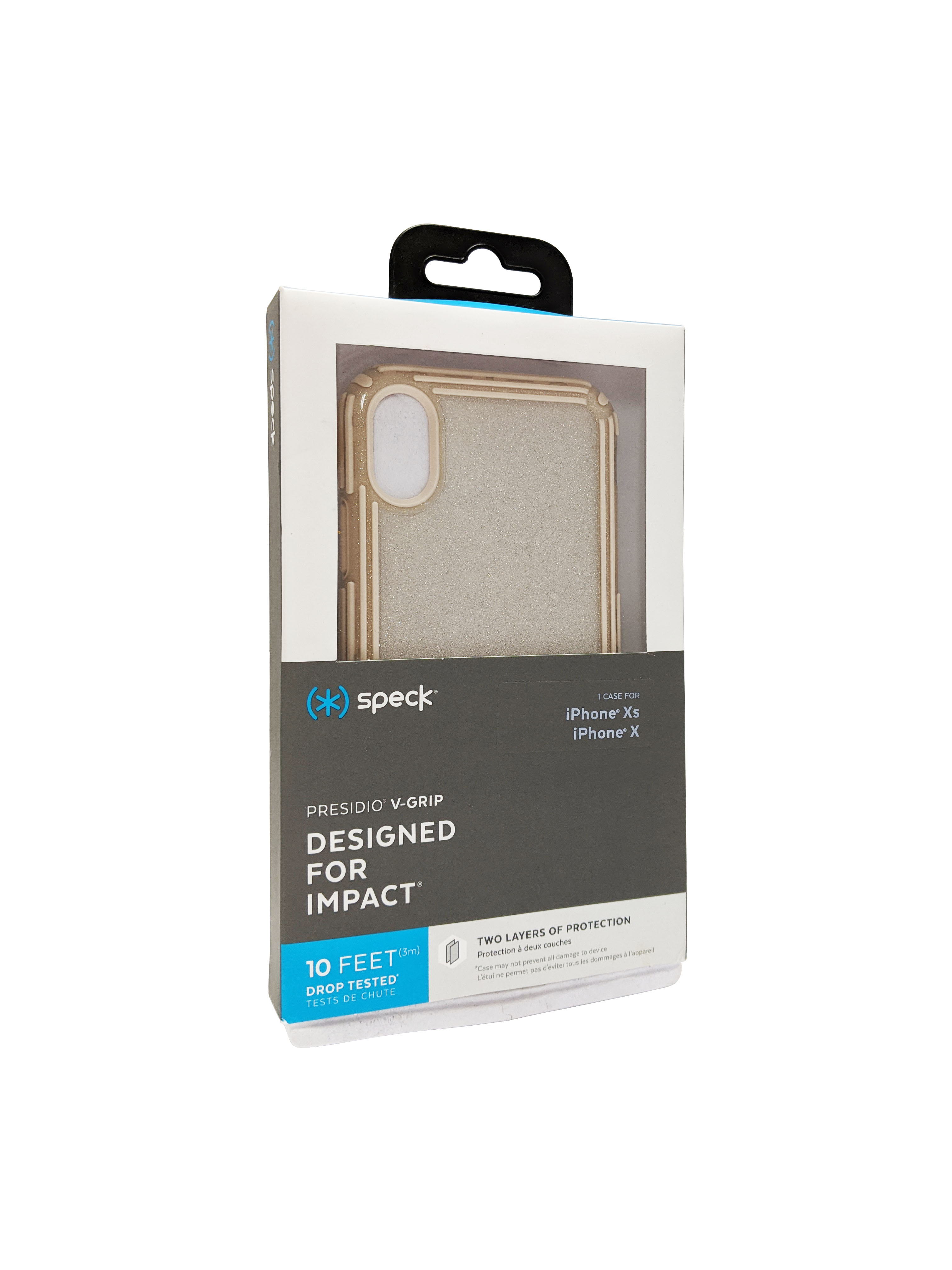 Speck Presidio V-Grip Case for Apple iPhone XS/X - Clear/Gold