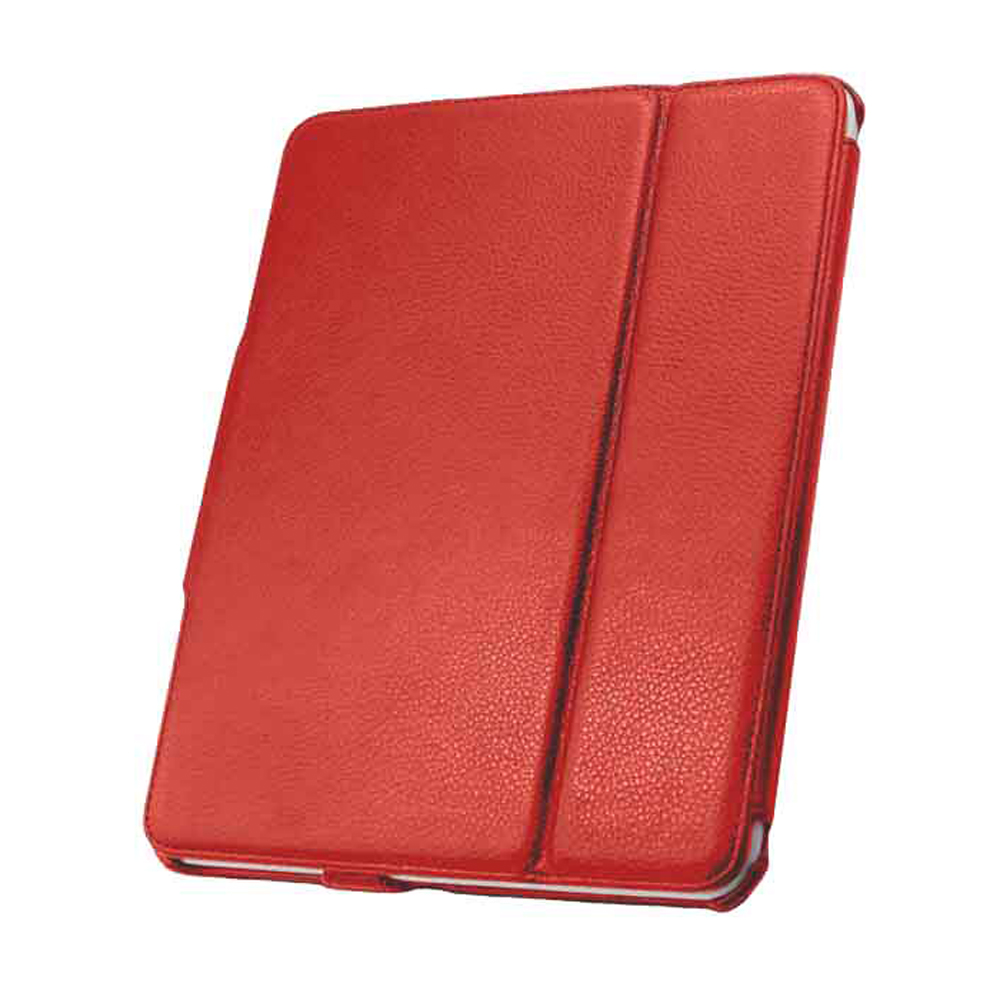 Unlimited Cellular Leather Flip Book Case and Folio for Apple iPad 2/3 - Red