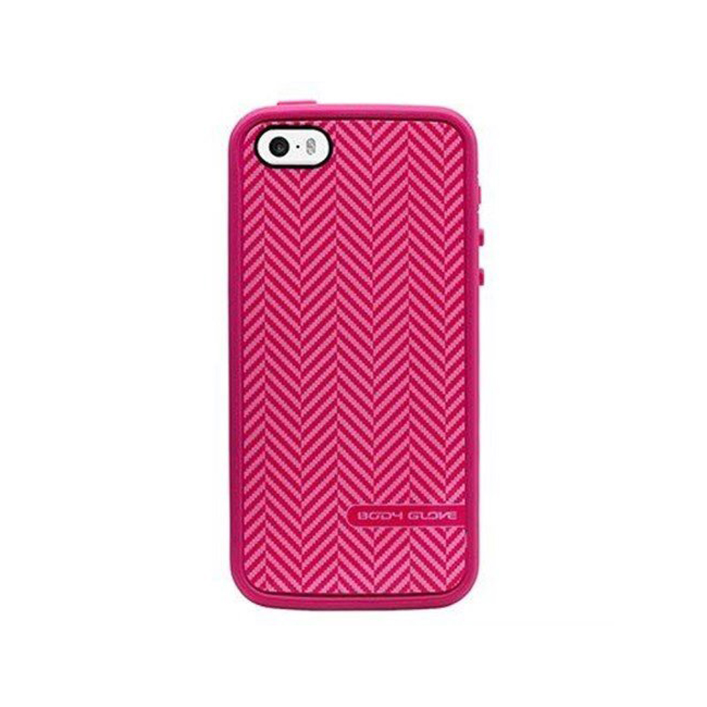 Body Glove MySuit Case for Apple iPhone 5/5S - Raspberry/Herringbone